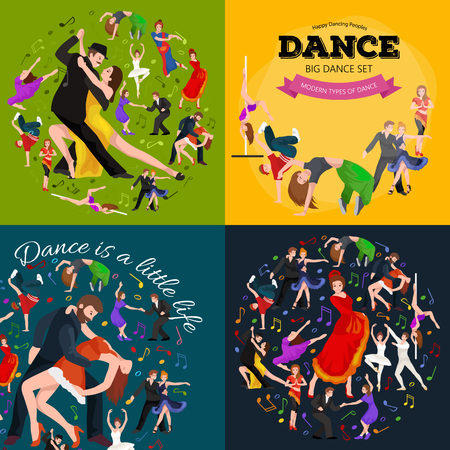 strip dance: Dancing People, Dancer Bachata, Hiphop, Salsa, Indian, Ballet, Strip, Rock and Roll, Break, Flamenco, Tango, Contemporary, Belly Dance Pictogram Icon Dancing style of design concept set vector illustration set