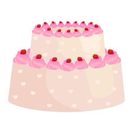 stuffing: Sweets cakes with different stuffing, chocolate dessert with cream and fruits vector illustration set