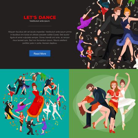strip dance: Dancing People, Dancer Bachata, Hiphop, Salsa, Indian, Ballet, Strip, Rock and Roll, Break, Flamenco, Tango, Contemporary, Belly Dance Pictogram Icon Dancing style of design concept set vector illustration set