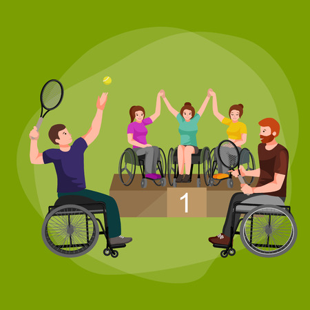 disable: Disable Handicap Sport Games Stick Figure Pictogram Icons vector