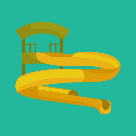 plastic pipe: Plastic slides for water park on a white background vector illustration pictograms
