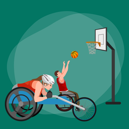 physical activity: disabled athlete with prosthesis isolated concept, sport for people with prosthesis, physical activity and competition for invalid vector illustration Illustration