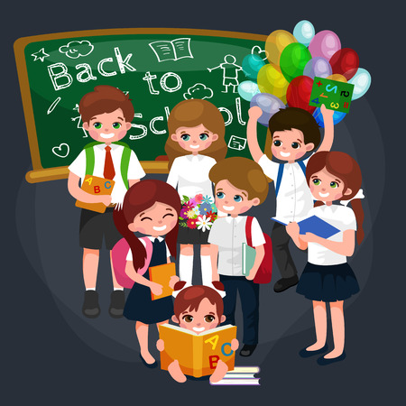 back to school and children education concept vector background vector illustration Illustration