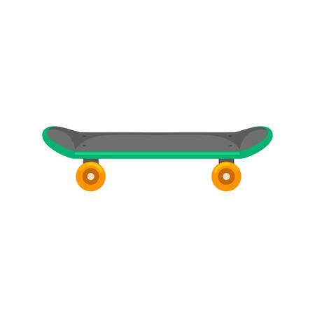 Geïsoleerde skateboard met wiel voor actieve levensstijl, extreme sport voor de jeugd activiteit, evenwicht straat transport vector illustratie. Stockfoto - 62617971