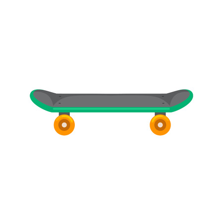 active lifestyle: isolated skateboard with wheel for active lifestyle, extreme sport for youth activity, balance street transport vector illustration.