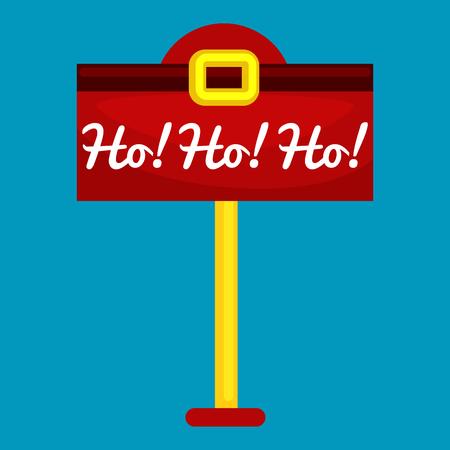 postbox: Christmas letter box to Santa isolated, Santa Claus xmas mail delivery postbox vector llustration, hohoho. Illustration