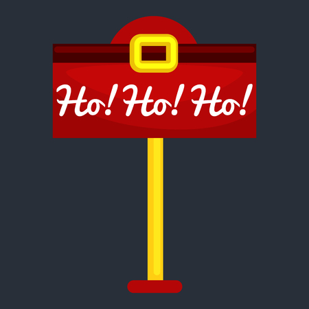 letter box: Christmas letter box to Santa isolated, Santa Claus xmas mail delivery postbox vector llustration, hohoho. Illustration