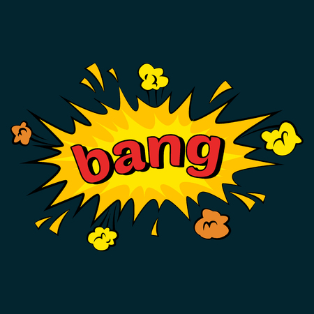 Comic sound effects in pop art vector style.  bubble speech with word and  cartoon expression sounds illustration Stock Photo
