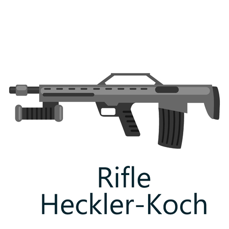 special steel: Hunting repeating air rifle hecker-Koch, weapon isolated on white background, army gun vrctor illustration