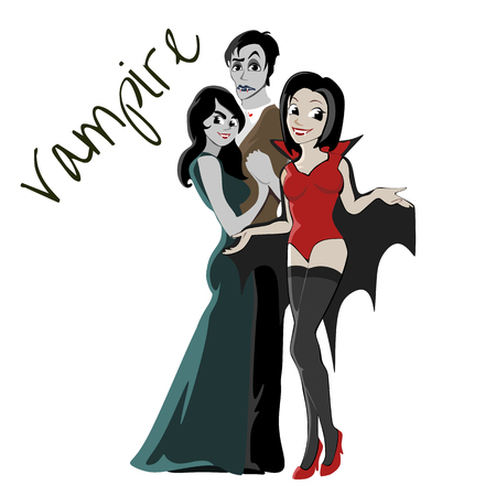 Halloween Gothic party Illustration