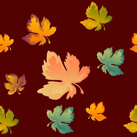 Autumn leaves pattern.