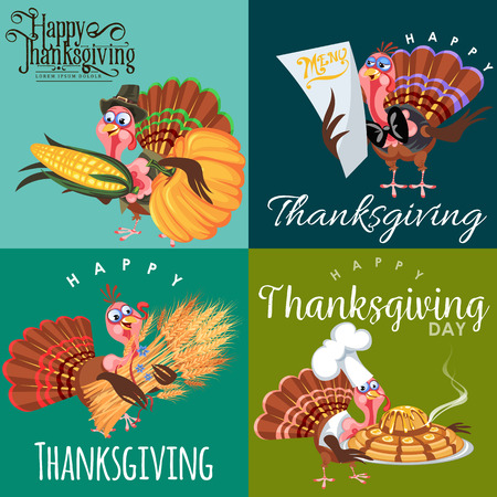 Harvest set, organic foods like fruit and vegetables, happy thanksgiving dinner background, vector illustration harvesting with pumpkin and stack of wheat ears, cranberry berries, bunches of grapes Imagens - 90742148