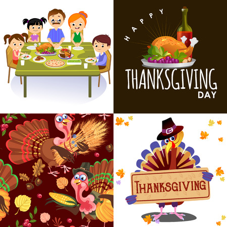 Harvest set, organic foods like fruit and vegetables, happy thanksgiving dinner background, vector illustration harvesting with pumpkin and stack of wheat ears, cranberry berries, bunches of grapes Imagens - 90742169