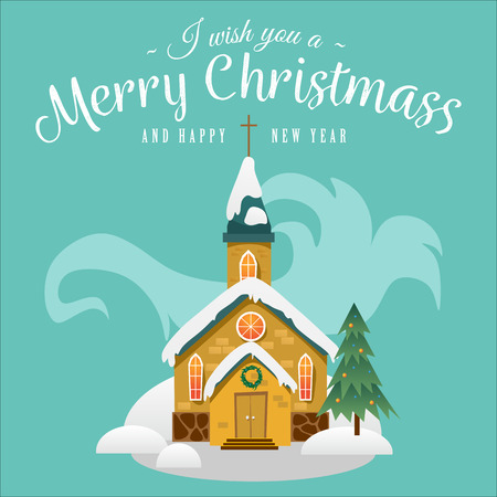 Christmas greeting card design concept. Stock Illustratie
