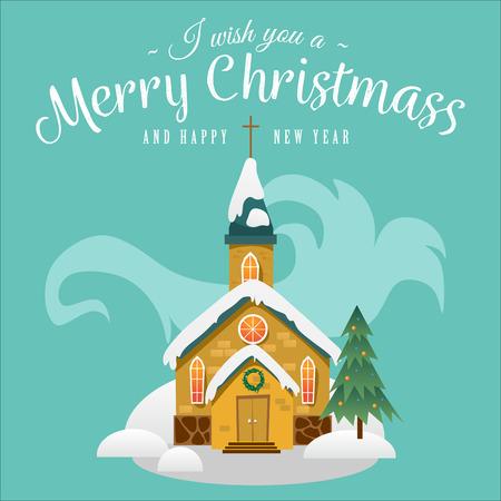 Christmas greeting card design concept. Ilustração