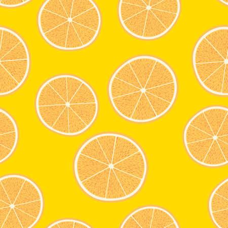 oranges, seamless pattern of orange fruits collection, tangerine, decorative, wallpaper, illustration, vector