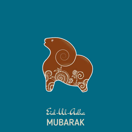 Popular Eid Il Eid Al-Fitr Greeting - 42088980-greeting-card-template-for-muslim-community-festival-eid-al-fitr-mubarak-with-flat-sheep  Trends_937848 .jpg?ver\u003d6