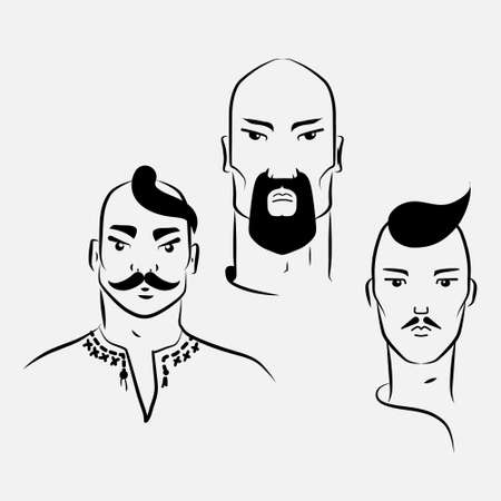 forelock: Three characters of Ukrainian Cossacks.