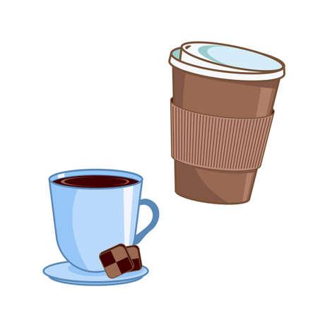 Coffee. Vector coffee cups.