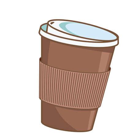 Coffee cup. Paper coffee cup to go. Ilustração