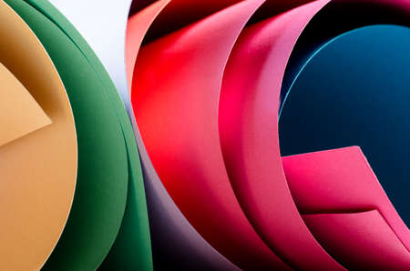 Abstract colorful paper background. Bright colored paper. Stock Photo