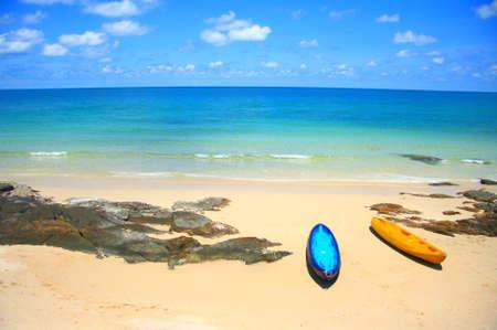 kayak boat and sea Stock Photo - 10277936