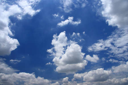 cumulus: blue sky and cloud Stock Photo