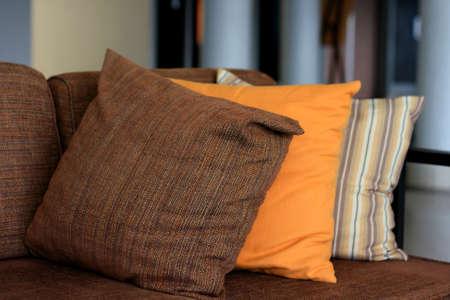 pillow on sofa photo