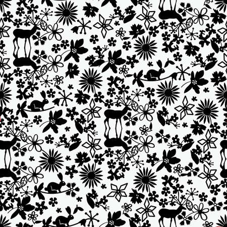 sideways: Cute forest simpless pattern Illustration