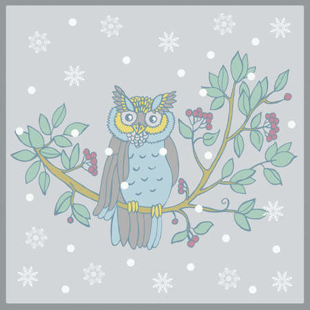 Vector illustration of an owl Vector