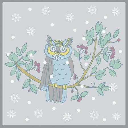 Vector illustration of an owl Vector