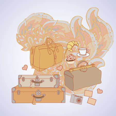vintage illustration on the theme of travel Stock Vector - 17400596
