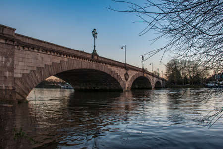 Kew Bridge in west London, listed bridge over the river Thames