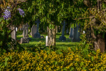 Evening atmosphere in the North Sheen cemetery, Richmond