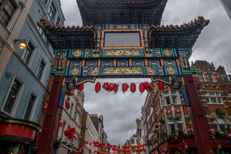 This is a view of an entrance to the Chinatown area which is a popular travel destination.
