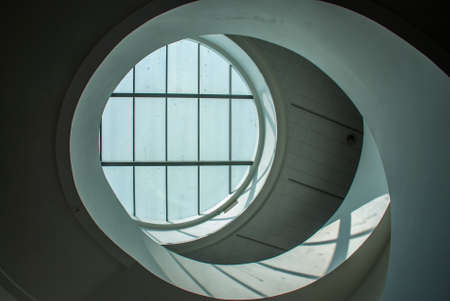 Round glass on the ceiling of the building, is a highly effective way to add light inside the building from light poured directly from the sun. Stock fotó