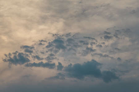 Beautiful sky with clouds background. The softness of the clouds and the brightness of the sky. Light blue background. Relaxing feeling and inspirational. copy space. Foto de archivo