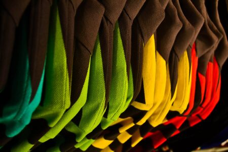 Colorful shirts in Thailand Stock Photo
