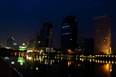 nighttime on city thailand Editorial