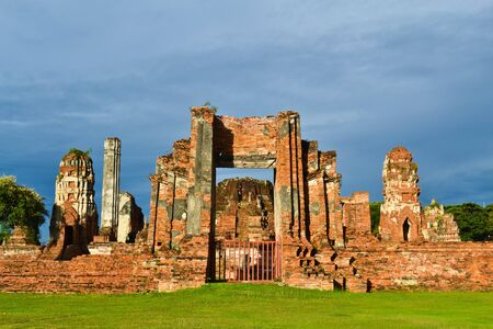 historic site:  Historic site  in Ayutthaya of thailand