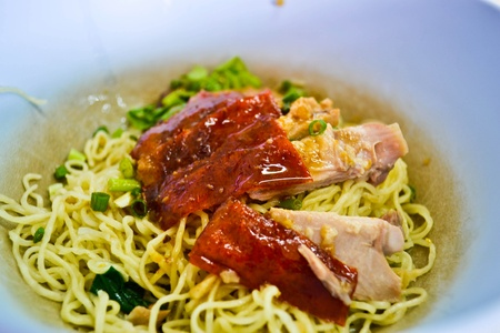 Noodles, duck Stock Photo