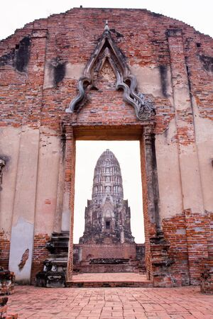 Temple of Ayutthaya, thailand Stock Photo