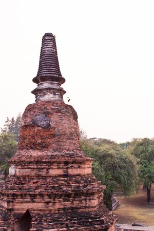 pagoda at Ayutthaya temple, thailand photo