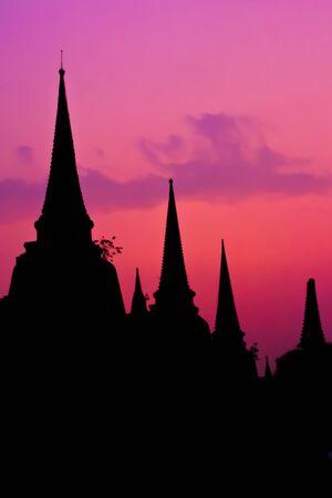 pagoda at Ayutthaya temple, thailand Stock Photo