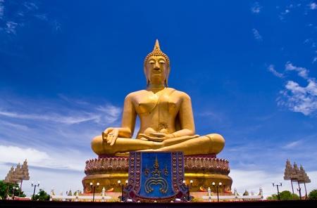 Big Golden Buddha at Wat Sing Buri  Province, thailand photo