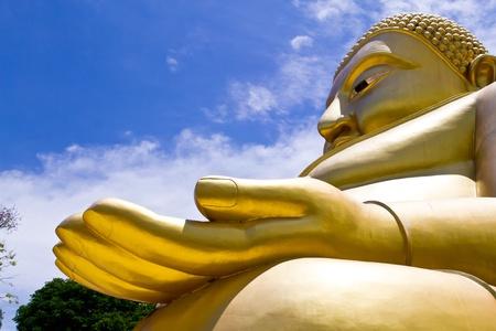 Big Golden Buddha at Wat Sing Buri  Province, thailand Stock Photo