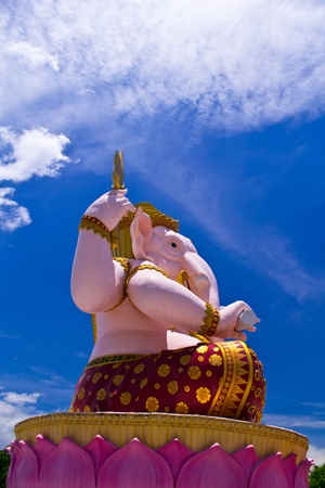 Big pink Ganesha of thailand photo