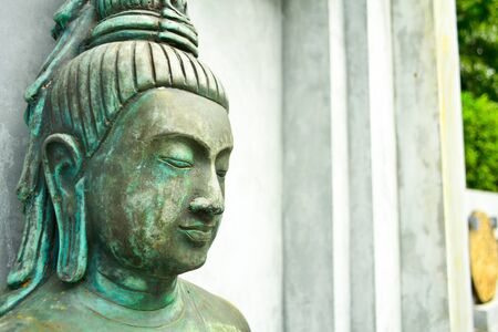 Close-up of a Buddha statue of thai land Stock Photo