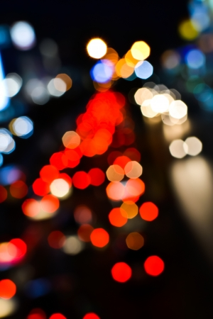 Blur trffic and car lights bokeh in thailand Stock Photo - 17621955