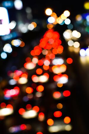Blur trffic and car lights bokeh in thailand Stock Photo - 17621946